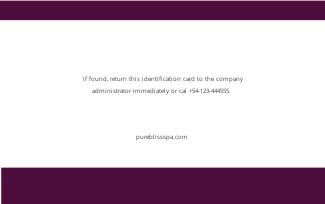 Spa Membership ID Card Template 1.jpe