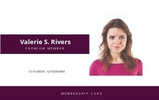Spa Membership ID Card Template