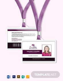 Spa Membership ID Card Template