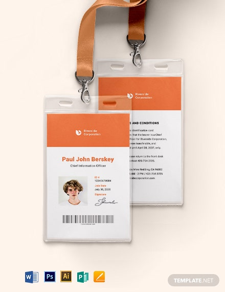 Standard Corporate ID Card Template