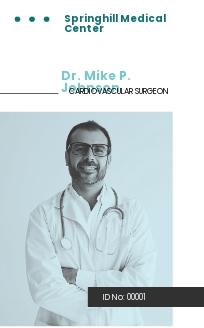 Surgeon ID Card Template