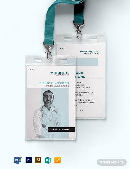 Surgeon ID Card Template