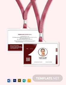 Temple Membership ID Card Template