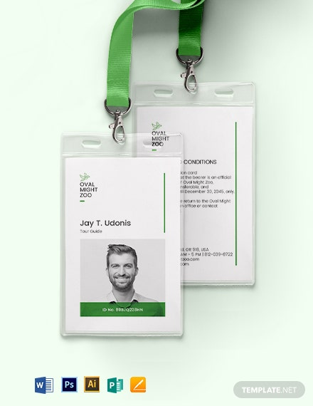 Tour Guide ID Card Template
