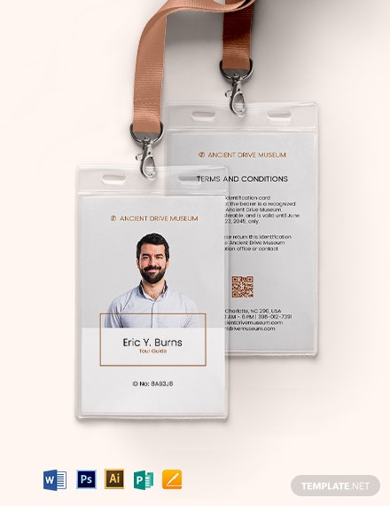 Tourist Attraction ID Card Template