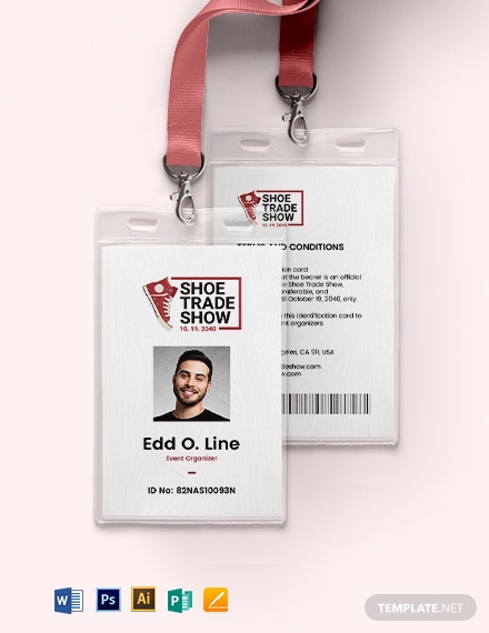 Trade Show ID Card Template