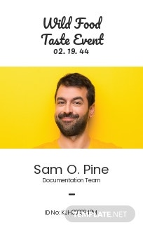 Unique Event ID Card Template