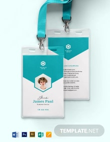 Vertical Corporate ID Card Template