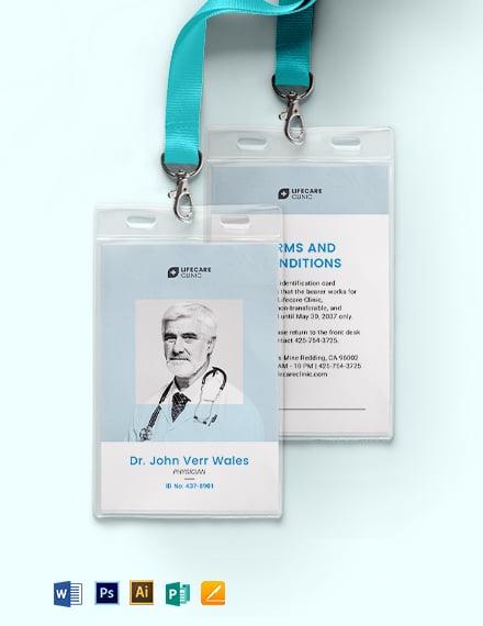 Vertical Medical ID Card