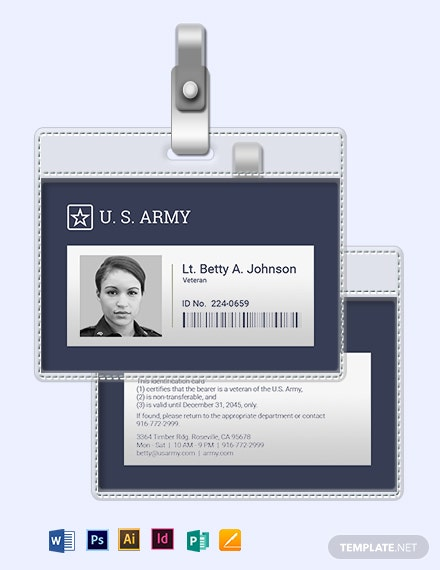 Veteran ID Card Template