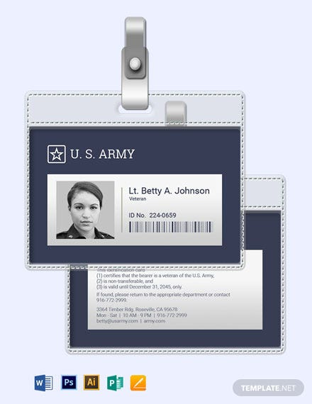 Veteran ID Card Template