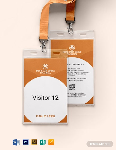 Visitor ID Card