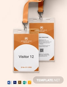Visitor ID Card Template