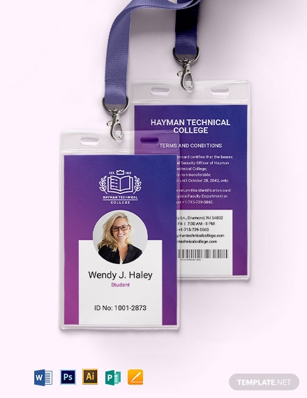 Vocational College ID Card