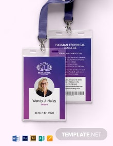 Vocational College ID Card Template