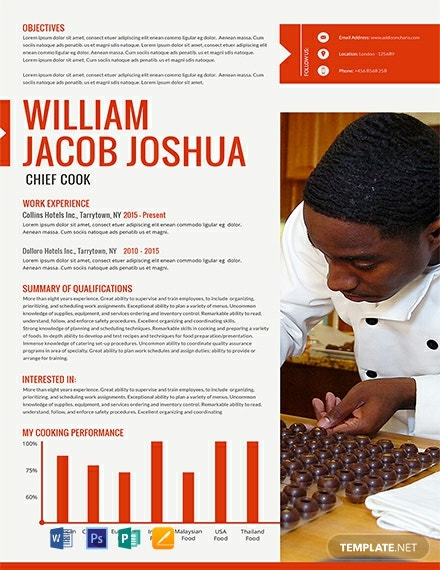 Free Chief Cook Resume Template