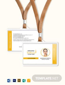 Wellness Membership ID Card Template