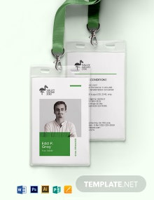 Zoo ID Card Template