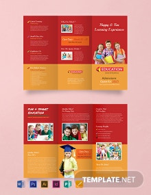 Kindergarten Tri-Fold Brochure Design Template