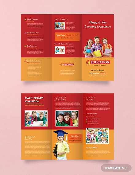 16 free educational brochure templates download ready made
