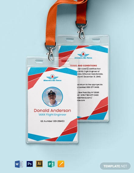 Airforce ID Card Template