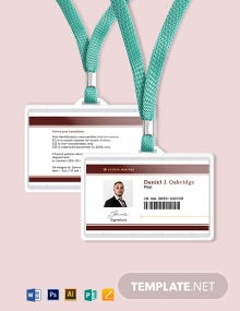 Airline ID Card Template
