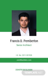 Architect ID Card Template