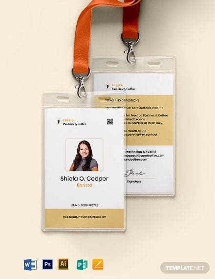 Bakery/Cafe ID Card Template