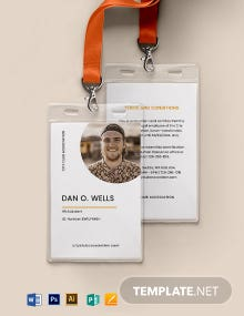 Bar Association ID Card Template