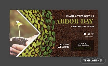 Free Arbor Day Facebook Post Template