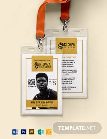 Basketball ID Card Template
