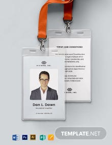 Blank Association ID Card Template