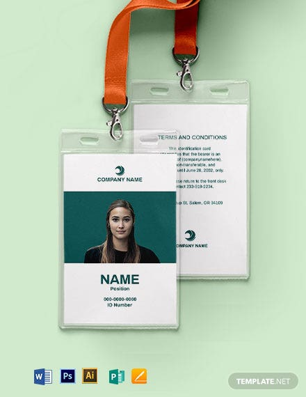 Blank Employee ID Card Template