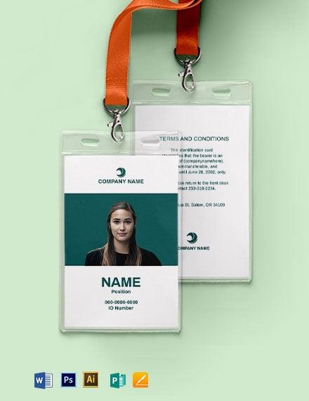 Blank Employee ID Card Template