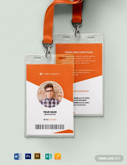 Blank Membership ID Card Template