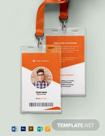 Blank Membership ID Card Template