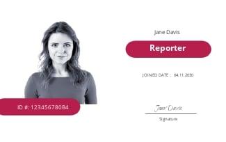 Blank Press ID Card Template