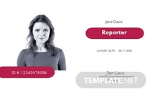 Blank Press ID Card Template