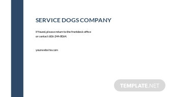 Blank Service Dog/Animal ID Card Template 1.jpe