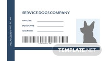 Blank Service Dog/Animal ID Card Template
