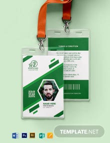 Blank Sports ID Card Template