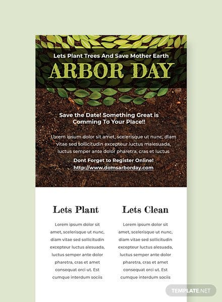 Free Arbor Day Email Newsletter Template