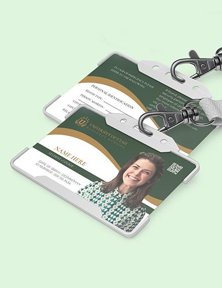 Blank University ID Card Download