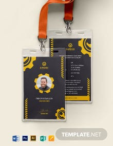 Building Maintenance Service ID Card Template