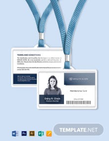 Business Membership ID Card Template
