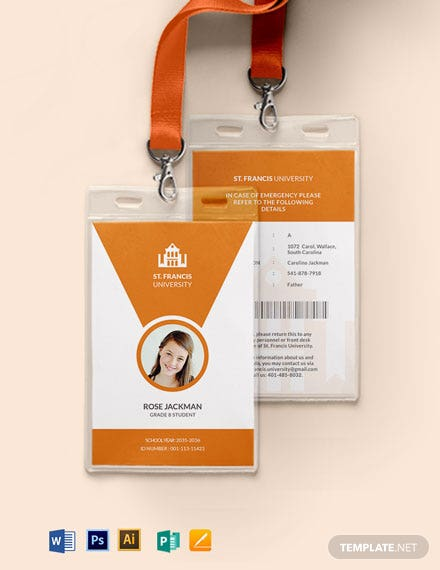 Campus ID Card Template