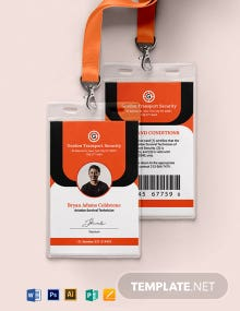 Coast Guard ID Card Template