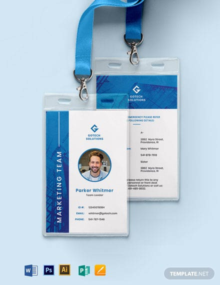 Corporate ID Card Format