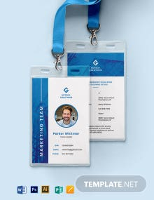 Corporate ID Card Format Template