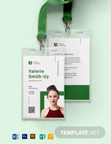 Corporate Portrait/Horizontal ID Card Template